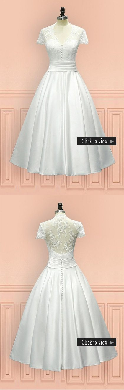 short vow renewal wedding dress