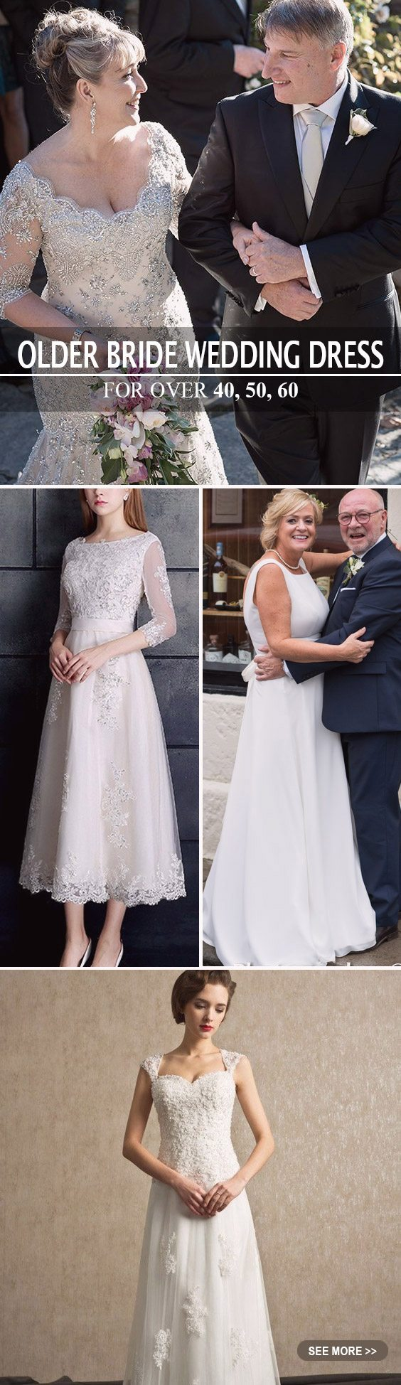 Beautiful wedding dresses for women over 50 images for Wedding dresses for 60 year olds