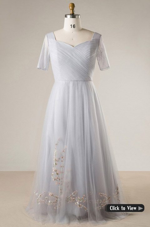Wedding Dress With Embroidery