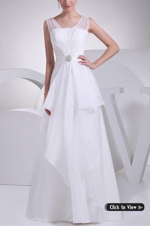 wedding dress with short train