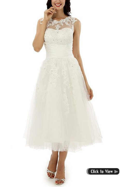 Beau Tea Length Wedding Dress