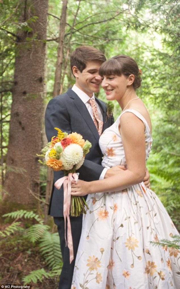 watercolor wedding dress floral print