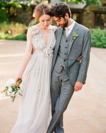 watercolor wedding dress dove grey