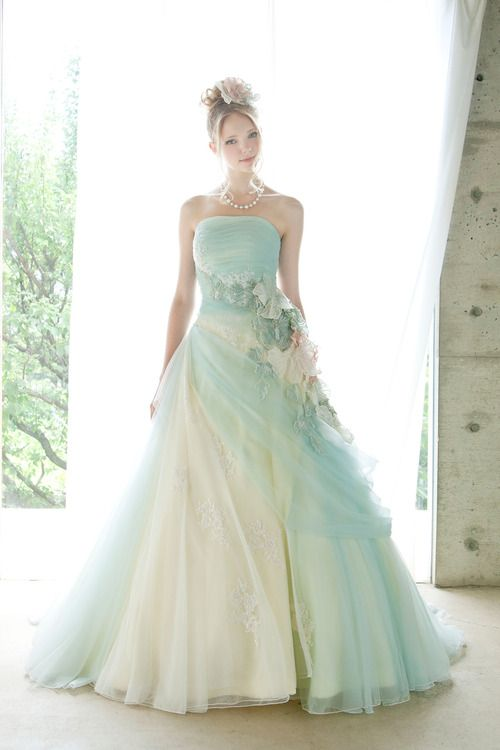 Top 10 Breathtaking Water Color Wedding Dress for Summer