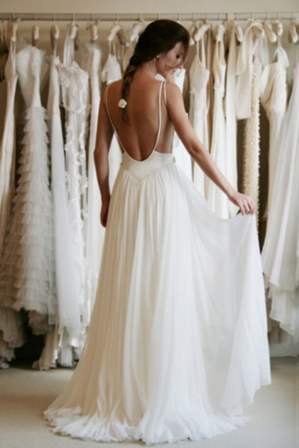 20 of the most gorgeous open back wedding dress backless wedding backless wedding dress junglespirit Images