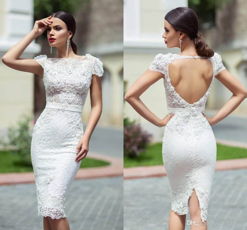 Short Wedding Dress For Renewal