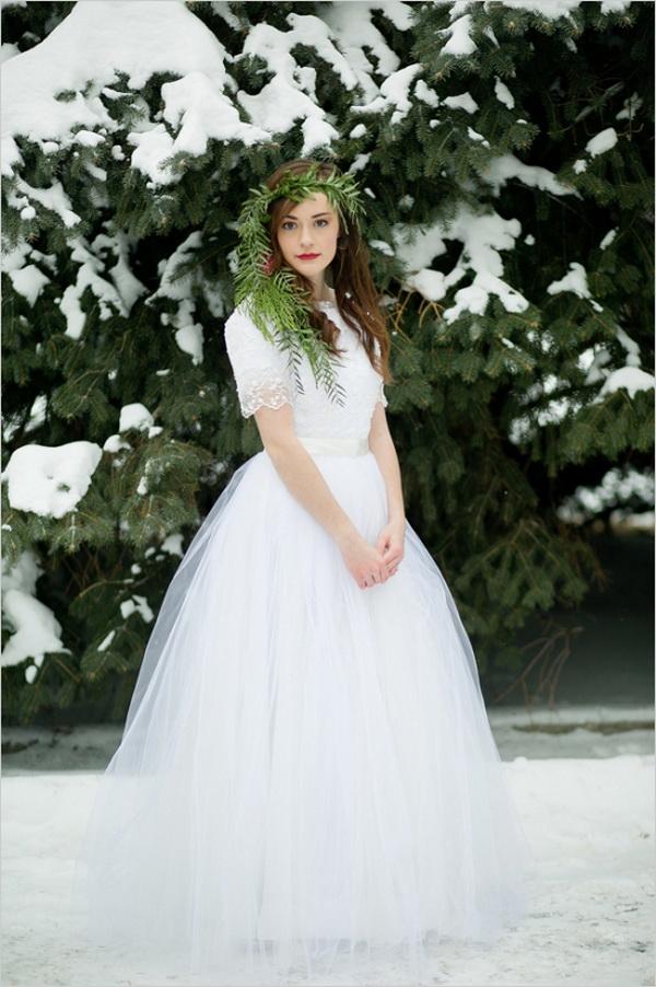 Top 13 winter wedding dress styles for Winter wedding dress styles