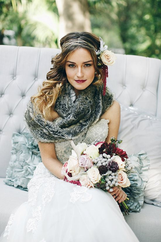 Winter Wedding Dress 13 With Scarf