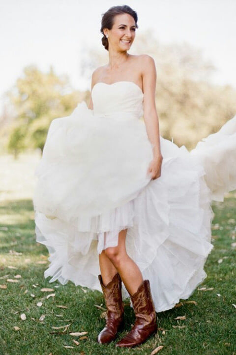 45 Short Country Wedding Dress Perfect with Cowboy Boots, Short or ...