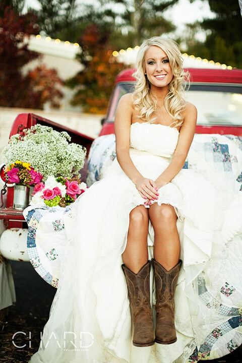 High Low Dresses With Cowboy Boots