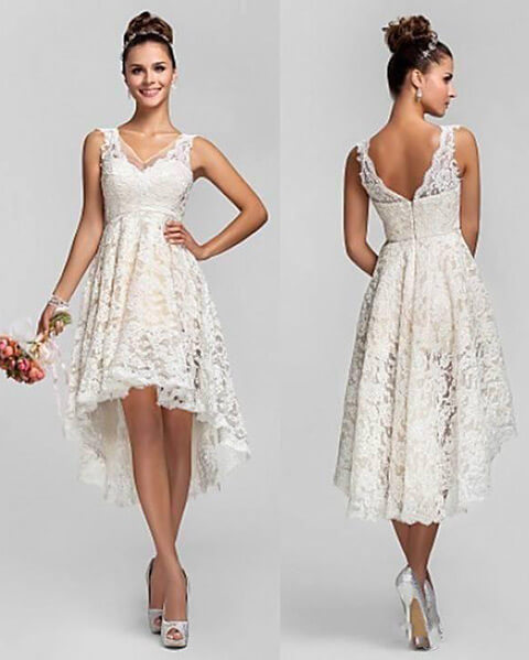 Country Wedding Dresses To Wear With Boots: 45 Short Country Wedding Dress Perfect With Cowboy Boots
