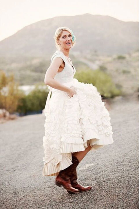 Stunning Boots With Wedding Dress Contemporary - Styles & Ideas ...