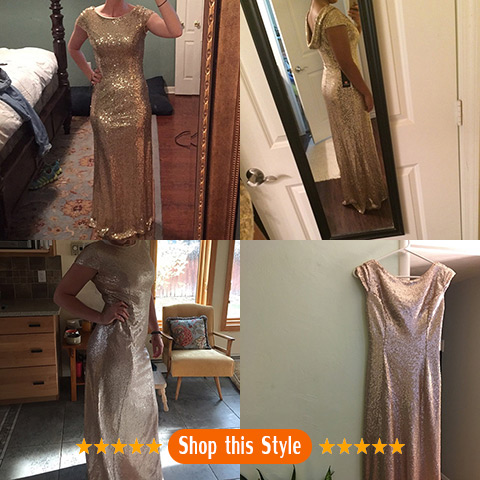 Best Gold Bridesmaid Dress