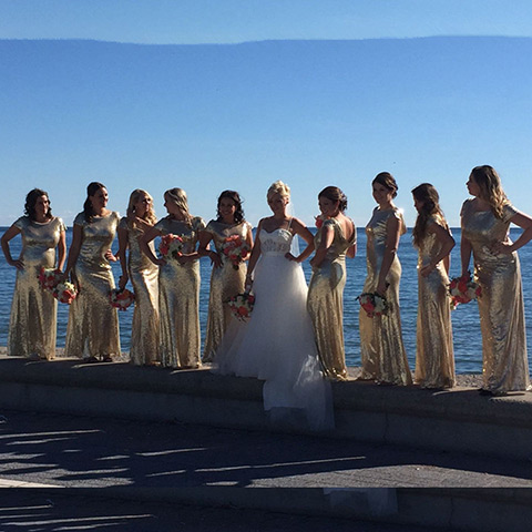 Gold Bridesmaid Dress Real Weddings