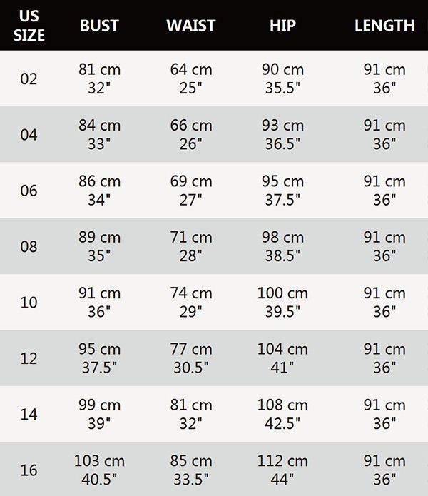 Size Chart Popup