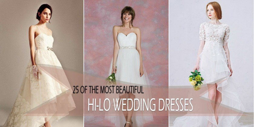 25 of the Most Ridiculously Beautiful Hi-lo Wedding Dresses on Pinterest